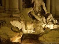 fontana di trevi detalhes cavalos roma