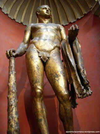Hércules em Bronze Dourado