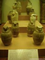 vasos canopos de alabastro, Tebas Dinastia 20-25, 1300-650 a.C.
