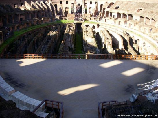parte coberta que seria a arena