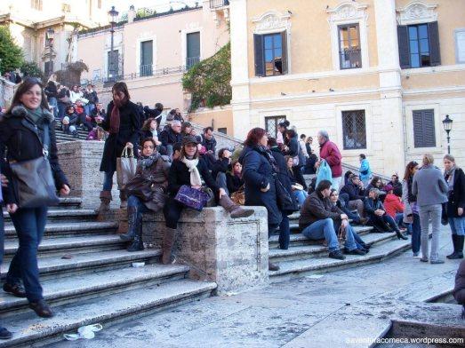 piazza di spagna roma escadaria