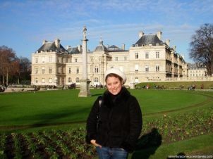 Palácio de Luxemburgo ao fundo