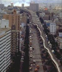 via expressa Hanshin no terremoto de 1995