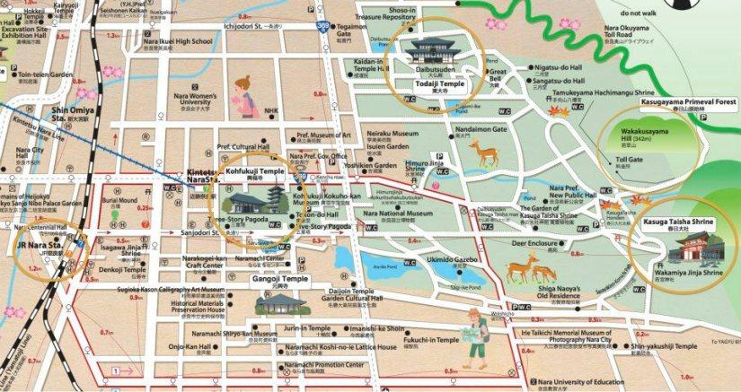 mapa guia nara