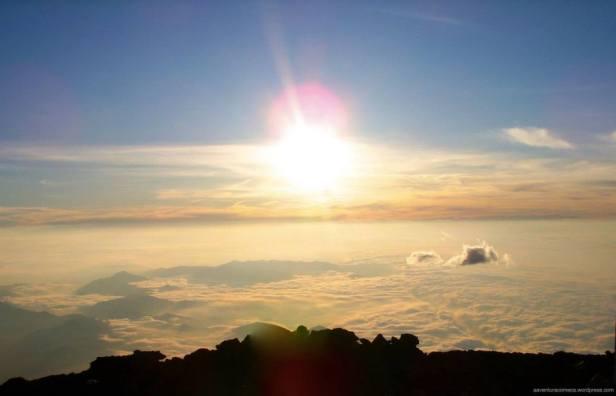 mt fuji japao nascer do sol luz