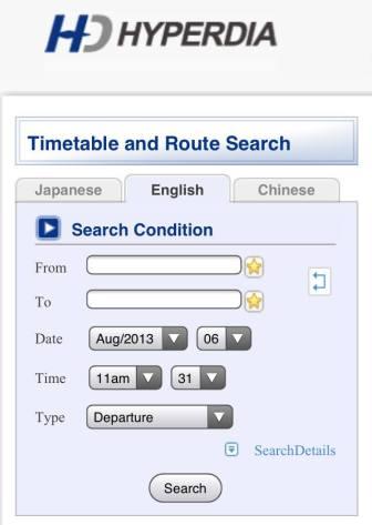 hyperdia timetable
