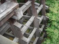 pilares com as vigas encaixadas