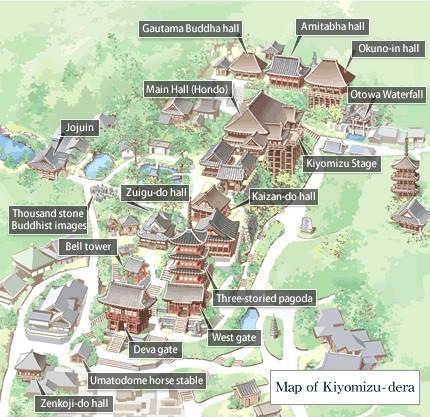 kiyomizu dera mapa