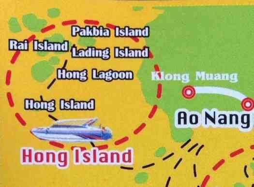 mapa tour hong island