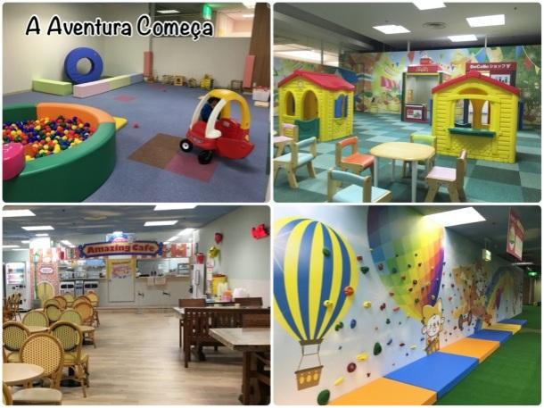 Área para crianças de 0 a 2 anos. Local pra brincar de casinha e comezinhas. Amazing Cafe.
