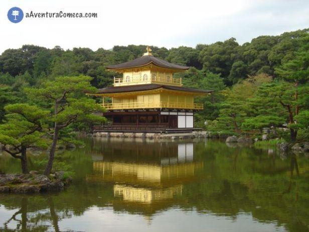 Kyoto Kinkakuji templo japao pavilhao dourado