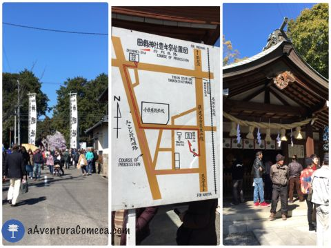 Shimensha - Mapa do Percurso - Tagata Jinja