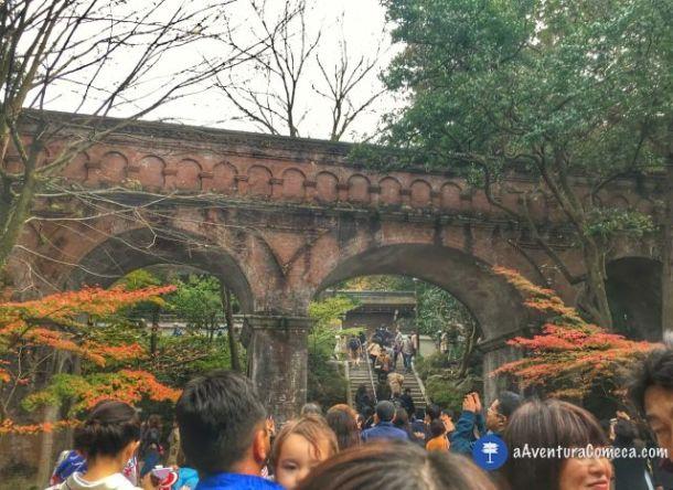 nanzenji aqueduto kyoto outono