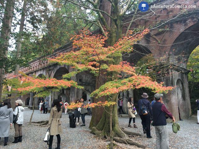 nanzenji aqueduto outono kyoto