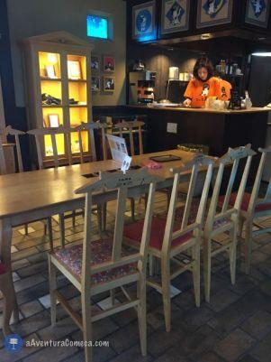 Café Temático da estação