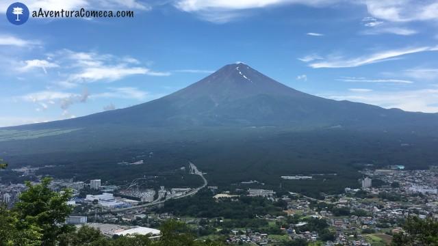 vista panoramica monte fuji japao kawaguchiko